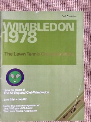 RARE WIMBLEDON FINAL TENNIS PROGRAMME With Printed Results 1978