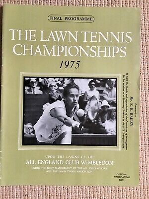 RARE WIMBLEDON FINAL TENNIS PROGRAMME With Printed Results 1975