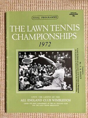 RARE WIMBLEDON FINAL TENNIS PROGRAMME With Printed Results 1972