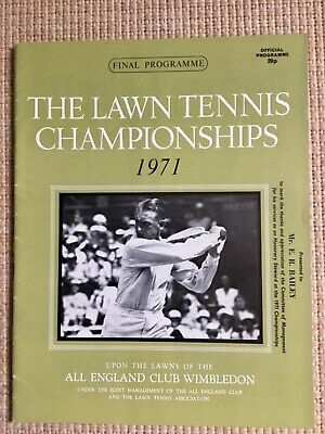 RARE WIMBLEDON FINAL TENNIS PROGRAMME With Printed Results 1971