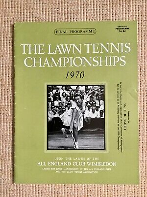 RARE WIMBLEDON FINAL TENNIS PROGRAMME With Printed Results 1970