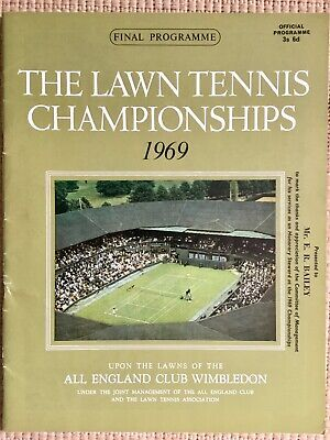 RARE WIMBLEDON FINAL TENNIS PROGRAMME With Printed Results 1969