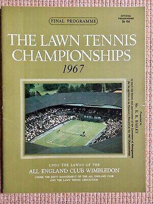 RARE WIMBLEDON FINAL TENNIS PROGRAMME With Printed Results 1967