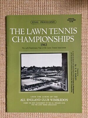RARE WIMBLEDON FINAL TENNIS PROGRAMME With Printed Results 1963