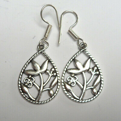 Pretty silver coloured metal earrings. Fairly traded, hippy, boho, ethnic