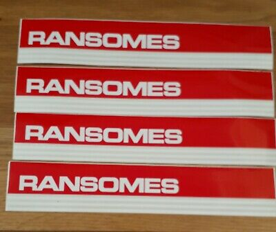 4 Ransomes Original red Decal stickers plough tractor machine magna 250 jacobsen