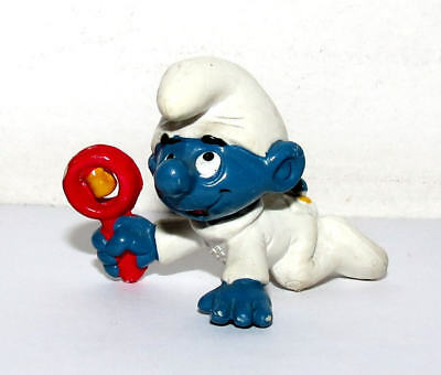 "/""BABY PUFFO BIANCO/"" /"" WHITE babysmurf with Rattle/"" Schleich-NUOVO-NEW-PERFECT 20179"