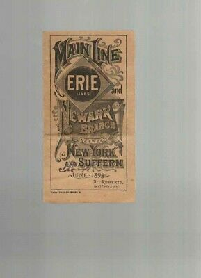 Erie Lines - Main Line & Newark Branch  1893