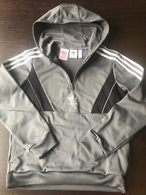 Boys Grey Adidas Hoodie Age 11-12 Yrs Excellent Condition