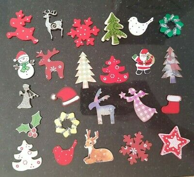 1500+ Christmas Wooden Shapes scrapbooking card making job lot clearance crafts