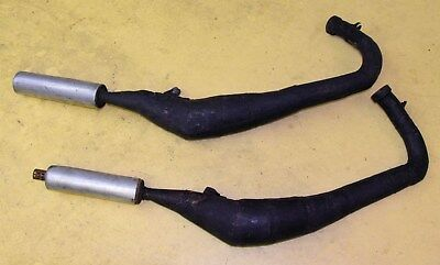 Yamaha TZ350 250 exhaust pipes expansion chambers used pair