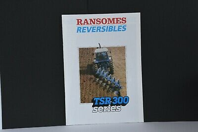 Ransomes TSR 300 Series late ploughs push-pull 1987 range Ford tractors brochure