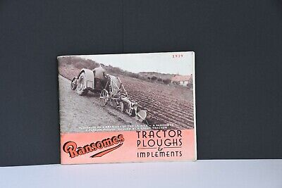 Ransomes 1939 tractor ploughs & implements 72-page range catalogue Fordson