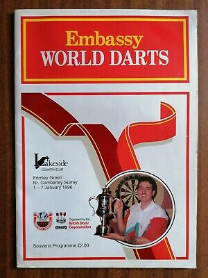 World Embassy Darts Programme 1996 Lakeside Country Club Signed by Matthew Clark