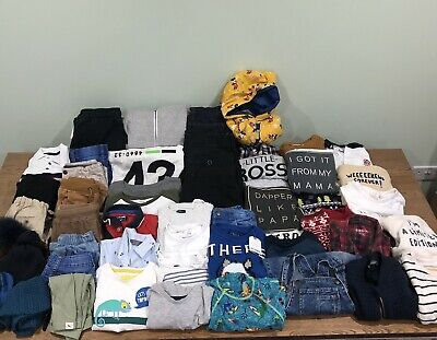 Boys Baby Childrens Clothes Job Lot Wholesale Bundle Mixed Approx 8kg / 40 Items