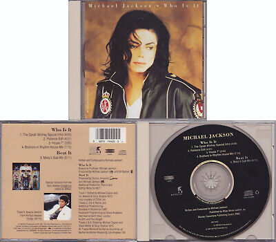 Michael Jackson WHO IS IT CD Maxi Single Remixes Collector Edition USA 1993