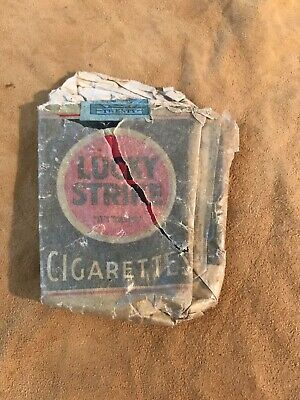 Vintage  Original  Green Lucky Strike Cigarettes Pack From 1925 Home Attic