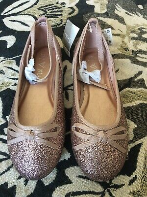 NEXT new With Tags Girls pink Sparkly Shoes Size 12