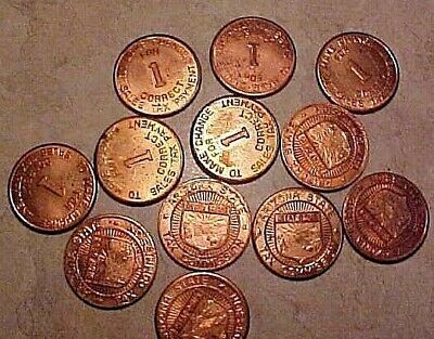 Lot of 12 Uncirculated Arizona AZ tax tokens, from New Mexico estate