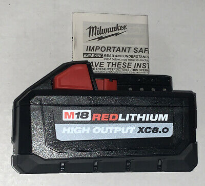NEW Milwaukee M18 RED Lithium High Output XC 8.0Ah Battery 48-11-1880