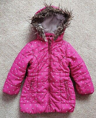 Girls Pink Star Coat Size 4 Years From John Lewis