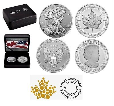 PRIDE OF TWO NATIONS 2019 2 x 1 OZ PURE SILVER COINS RCM ** NO OUTSIDE SLEEVE **