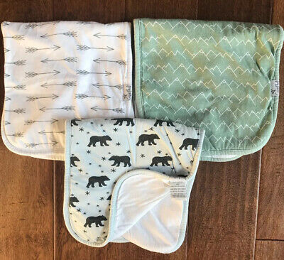 Copper Pearl Archer Set Of 3 | Baby Burp Cloths | 21X10 | VGC