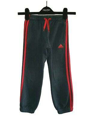 Boys ADIDAS Cuffed Tracksuit Bottoms Age 5-6 Years