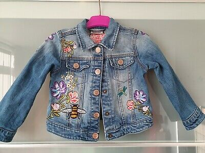 Absolutely Gorgeous Girls Denim/Jean Embroidered Jacket From Next Age 3-4yrs...