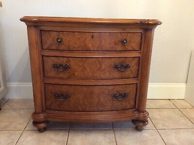 Large Burr Walnut Reproduction Chest Drawers