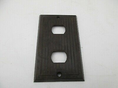 Vintage Bryant BAKELITE Switch Plate/Outlet Wall Cover Brown Ribbed