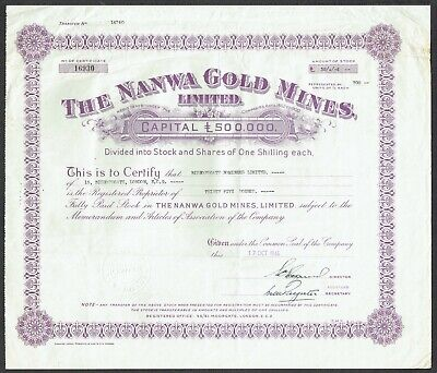 Group of 5 share certificates for the Gold Coast Colony.