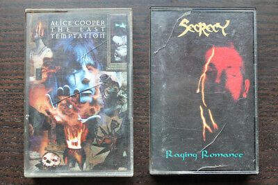 "ALICE COOPER / SECRECY - zwei Kassetten ""Last Temptation"" / ""Raging Romance"""