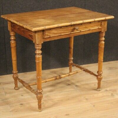 Small Table Secretary Desk Table Furniture Wooden Antique Style Living Room 900