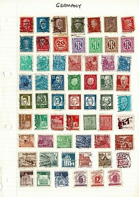 Old German Stamps Mixed Assorted Selection from Germany Pre-war, WWII & post war