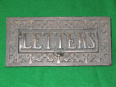 Genuine Antique. Victorian Cast Iron Letter Box For House Door