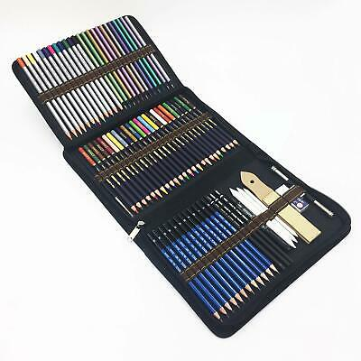 72 Piece Drawing Pencils, Colouring Pencils and Sketch Pencils Set with Drawing