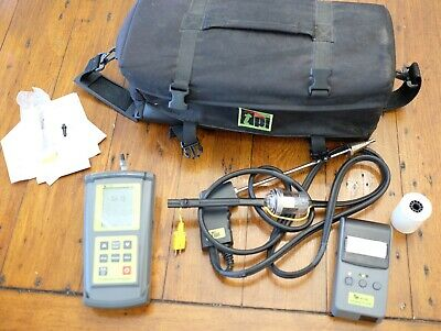 TPI 708 Combustion Flue Gas Analyzer Meter Kit w/ Printer - Used