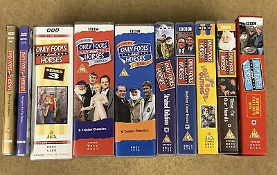 Only Fools & Horses VHS & DVD Collection x 10 - Perfect Condition & Very Rare!