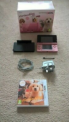 Nintendo 3ds Console Cats and Dogs in Coral Pink