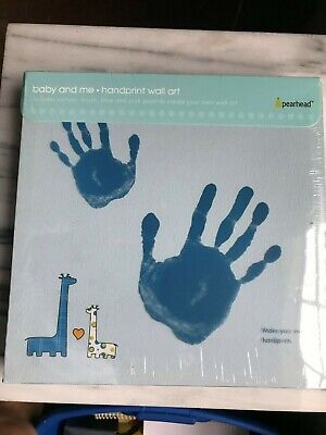 NIB Pearhead Baby and Me Handprint Wall Art (Blue)