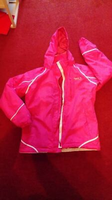 Age 11 - 12 years Regatta Hooded 3/4 Jacket / Coat Winter Warm Pink Girls
