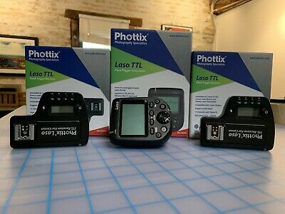 Phottix Laso TTL Flash Trigger Transmitter and (2) Receivers for Canon