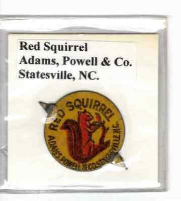 Tobacco Tag Adams, Powell & Co. Statesville, NC. Red Squirrel
