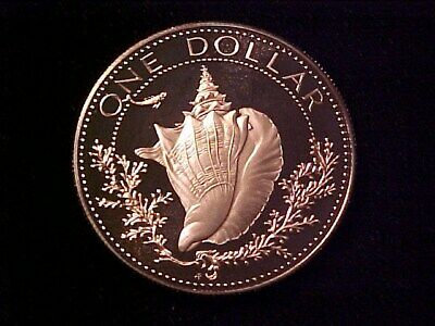 Bahamas Conch $1 Dollar Silver Proof 1974 Gem Cameo Nice
