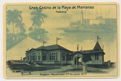 CUBAN 1930's Celluloid Advertising Card Gran Casino Roulette Info HAVANA, Cuba
