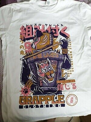 Grapple Clothing Wrestle Crate T Shirt Size Large