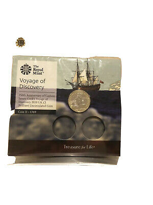 2019 Royal Mint Captain James Cook UK Brilliant Uncirculated £2 Two Pound Coin