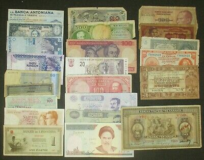 Lot of 23 pieces of Foreign currency Lire Francs Gulden Korun etc.....