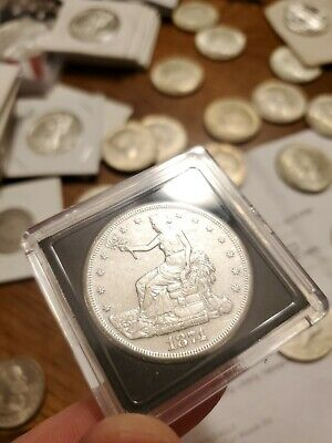 Silver Dollar Madness Night! 1874-S Trade Silver Dollar. Au